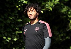 Arsenal's Mohamed Elneny during the training session at London Colney.