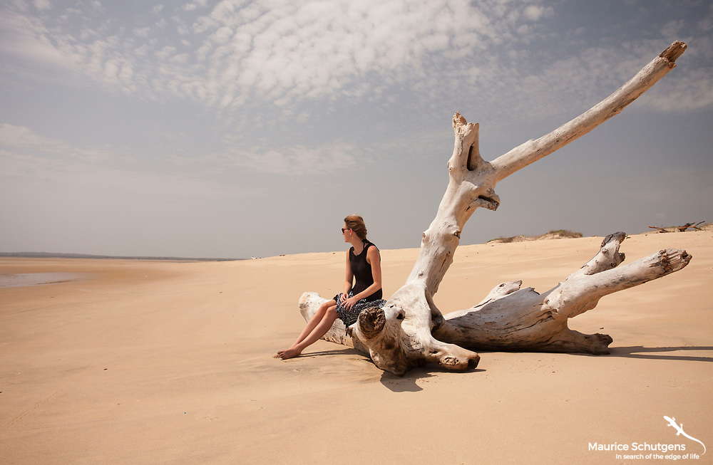 Staring into space on one of the most idyllic locations on Africa's east coast.