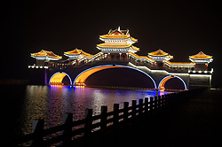 June 2, 2017 - Tangshan, Tangshan, China - Tangshan, CHINA-June 2 2017: (EDITORIAL USE ONLY. CHINA OUT)..Scenery of Tanjin Canal in Tangshan, north China's Hebei Province. The Tangjin Canal connects Tangshan and Tianjin in north China. (Credit Image: © SIPA Asia via ZUMA Wire)