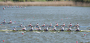 Brandenburg. GERMANY. GBR W8+ winning the final at the 2016 European Rowing Championships at the Regattastrecke Beetzsee<br /> <br /> Sunday  08/05/2016<br /> <br /> [Mandatory Credit; Peter SPURRIER/Intersport-images]