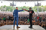 Conor McGregor and Floyd Mayweather face off in Toronto during the press tour ahead of their boxing match.