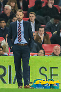 Gareth Southgate, Head Coach of England FC during the international Friendly match between England and USA at Wembley Stadium, London, England on 15 November 2018.