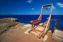 Fishing boat hoist, South Point, Big Island, Hawaii