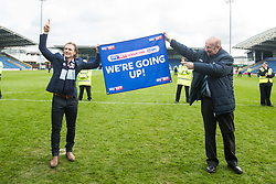 Free to use courtesy of Sky Bet - Wycombe Wanderers manager Gareth Ainsworth and Wycombe Wanderers Chairman Trevor Stroud celebrate winning promotion to Sky Bet League One - Mandatory by-line: Robbie Stephenson/JMP - 28/04/2018 - FOOTBALL - Proact Stadium - Chesterfield, England - Chesterfield v Wycombe Wanderers - Sky Bet League Two