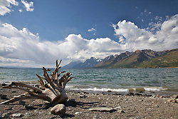 """Stormy Day, Jackson Lake, Grand Tetons, Grand Teton National Park<br /> <br /> For production prints or stock photos click the Purchase Print/License Photo Button in upper Right; for Fine Art """"Custom Prints"""" contact Daryl - 208-709-3250 or dh@greater-yellowstone.com"""