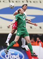 v.l. Marvin Matip, Marian Hristov Wolfsburg<br />Bundesliga 1.FC Koeln - VfL Wolfsburg