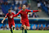 Cristiano Ronaldo of Portugal celebrates after his 3rd goal during the 2018 FIFA World Cup Russia, Group B football match between Portugal and Spain on June 15, 2018 at Fisht Stadium in Sotschi, Russia - Photo Tarso Sarraf / FramePhoto / ProSportsImages / DPPI