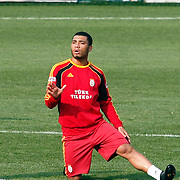 Galatasaray's players Colin Kazim RICHARDS during their training session at the Jupp Derwall training center, Thursday, January 13, 2010. Photo by TURKPIX
