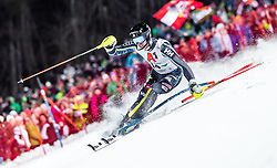 """29.01.2019, Planai, Schladming, AUT, FIS Weltcup Ski Alpin, Slalom, Herren, 1. Lauf, im Bild Andre Myhrer (SWE) // Andre Myhrer of Sweden in action during his 1st run of men's Slalom """"the Nightrace"""" of FIS ski alpine world cup at the Planai in Schladming, Austria on 2019/01/29. EXPA Pictures © 2019, PhotoCredit: EXPA/ JFK"""