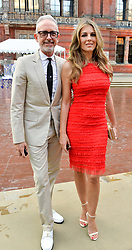 Patrick Cox and Liz Hurley at the V&A Summer Party 2017 held at the Victoria & Albert Museum, London England. 21 June 2017.