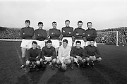 06/02/1966<br /> 02/06/1966<br /> 06 February 1966<br /> League of Ireland: Shamrock Rovers v Waterford at Milltown, Dublin. The Waterford team.