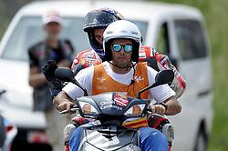 June 17, 2018 - Barcelona, Catalonia, Spain - The Italian rider, Andrea Dovizioso of Ducati Team, after crash during the Catalunya Motorcycle Grand Prix at Circuit de Catalunya on June 17, 2018 in Barcelona, Spain. (Credit Image: © Joan Cros/NurPhoto via ZUMA Press)
