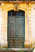 Domaine Borie la Vitarèle Causses et Veyran St Chinian. Languedoc. A door. France. Europe.