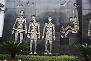 """Hanoi, Vietnam, Hoa Lo Prison, was a prison used by the French colonists in Vietnam for political prisoners, and later by North Vietnam for prisoners of war during the Vietnam War when it was sarcastically known to American prisoners of war as the """"Hanoi Hilton""""."""