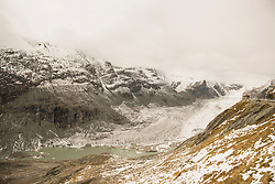 Grossglockner mountain with Glacier Pasterze, Hohe Tauern National Park, Carinthia, Austria