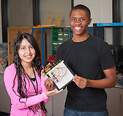 Engineering students work on projects at Westside High School, April 22, 2013.