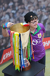 Fans have their photo taken with the trophy  - Photo mandatory by-line: Dougie Allward/JMP - Mobile: 07966 386802 - 11/03/2015 - SPORT - Football - Bristol - Cabot Circus Shopping Centre - Johnstone's Paint Trophy