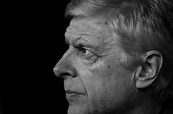 Arsenal manager Arsene Wenger in black and white - Mandatory by-line: Robbie Stephenson/JMP - 23/11/2017 - FOOTBALL - RheinEnergieSTADION - Cologne,  - Cologne v Arsenal - UEFA Europa League Group H