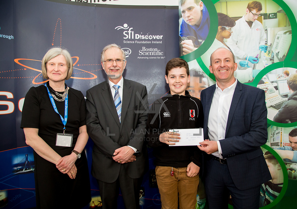 27.04.2016.          <br />  Kalin Foy and Ciara Coyle win SciFest@LIT<br /> Kalin Foy and Ciara Coyle from Colaiste Chiarain Croom to represent Limerick at Ireland's largest science competition.<br /> <br /> Glenstal Abbey School student, Ivor Larkin's project, The Effects of Microgravity on Microorganisms, was Junior First in the Life Sciences Category. Ivor Larkin is pictured with George Porter, SciFest and Brian Aherne, Intel<br /> <br /> Of the over 110 projects exhibited at SciFest@LIT 2016, the top prize on the day went to Kalin Foy and Ciara Coyle from Colaiste Chiarain Croom for their project, 'To design and manufacture wireless trailer lights'. The runner-up prize went to a team from John the Baptist Community School, Hospital with their project on 'Educating the Youth of Ireland about Farm Safety'. Picture: Alan Place