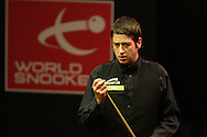 Matthew Stevens of Wales during his match against Barry Pinches. Welsh open snooker 2010 at the Newport Centre, Newport, South Wales, day 1 on Mon 25th Jan 2010.   pic by  Andrew Orchard  , Andrew Orchard sports photography,