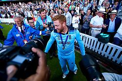 Jonny Bairstow of England celebrates winning the ICC Cricket World Cup - Mandatory by-line: Robbie Stephenson/JMP - 14/07/2019 - CRICKET - Lords - London, England - England v New Zealand - ICC Cricket World Cup 2019 - Final
