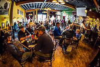 Interior, Skagway Brewing Company, Skagway, Alaska USA.