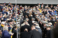 6 Dec 2008: Navy midshipmen line a corridor in the stands for President George W Bush to get to his seat from the Army sideline to the Navy Sidline for the second half of the game during the Army / Navy game December 6th, 2008. At Lincoln Financial Field in Philadelphia, Pennsylvania.