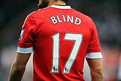 Detail of the shirt of Manchester United's Daley Blind