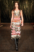 Kasia Struss walks down runway for F2012 Altuzarra's collection in Mercedes Benz fashion week in New York on Feb 10, 2012 NYC's