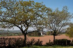 Farmhouse and countryside view, Boundary, near Cheadle, Staffordshire, England, UK.<br /> Photo: © Ed Maynard<br /> 07976 239803<br /> www.edmaynard.com
