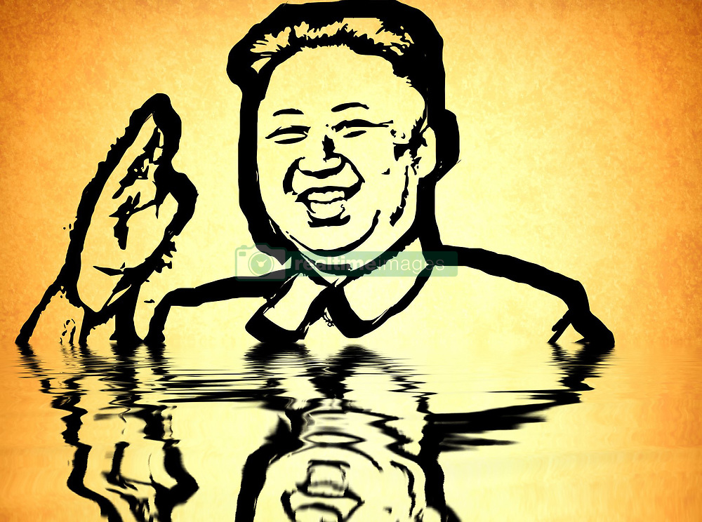 September 5, 2017 - Graph of Pyongyang | Graffe de PyongYang  05/09/2017 (Credit Image: © Patrick Lefevre/Belga via ZUMA Press)