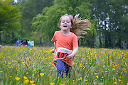 NO FEE PICTURES<br /> 28/5/16 SaoirsePendlebury, age 4, Balbriggan at the Irish Kidney Association's Run For Life in support of Organ Donation at Corkagh Park in Dublin. Pictures:Arthur Carron