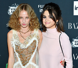 L-R: Model Petra Collins and musician Selena Gomez attend the Harper's Bazaar Icons by Carine Roitfeld celebration at The Plaza Hotel in New York, NY on September 8, 2017.  (Photo by Stephen Smith/SIPA USA)