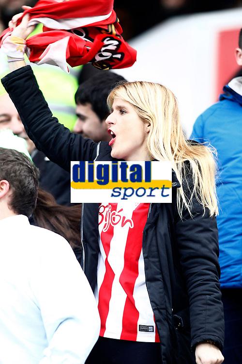 Sporting de Gijon's supporter during La Liga match. February 12,2017. (ALTERPHOTOS/Acero)