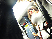 Saturday September 20th 2008. Paris, France..In the subway........