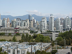 August 15, 2017 - Vancouver, British Columbia, Canada - A scenic view of Vancouver's False Creek real estate as seen from the Fairview Slopes neighborhood. (Credit Image: © Bayne Stanley via ZUMA Wire)