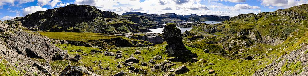 Norway, Suldal. Stranddalen, stitched panorama.