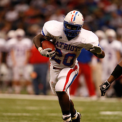 2008 December 12: Curtis running back Kenny Cain carries the ball during the Class 2A LHSAA State Championship game a 35-14 win by the John Curtis Patriots over the Evangel Christian Eagles at the Louisiana Superdome in New Orleans, LA. On February 4, 2009 Cain signed to play college football at TCU. (photo by Derick Hingle)