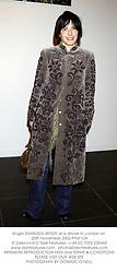 Singer SHARLEEN SPITERI at a dinner in London on 20th November 2002.PFM 104