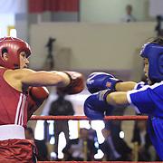 2. WOMEN'S WORLD BOXING CHAMPIONSHIPS.<br /> Norway's Kitel Henrite (L) between PRK's Jo Pok Sun (L). Dilek Sabanci Sport Hall Antalya/Turkey<br /> Photo by Aykut AKICI/TurkSporFoto