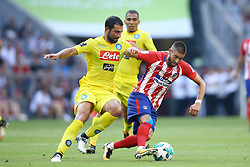 August 1, 2017 - Munich, Germany - Raul Albiol of Napoli and Yannick Ferreira Carrasco of Atletico de Madrid durign the first Audi Cup football match between Atletico Madrid and SSC Napoli in the stadium in Munich, southern Germany, on August 1, 2017. (Credit Image: © Matteo Ciambelli/NurPhoto via ZUMA Press)