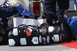 Players luggages are seen upon their arrival at the Roissy-Charles de Gaulle airport on the outskirts of Paris, France, on July 16, 2018 after winning the Russia 2018 World Cup final football match. Photo by ABACAPRESS.COM
