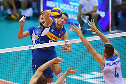 DANIELE MAZZONE<br /> <br /> Italy vs Slovenia<br /> Volleyball men's world championship <br /> Florence September 18, 2018