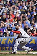CHICAGO - APRIL 16:  Albert Pujols #5 of the St. Louis Cardinals fields a throw to first base against the Chicago Cubs on April 16, 2009 at Wrigley Field in Chicago, Illinois.  The Cardinals defeated the Cubs 7-4.  (Photo by Ron Vesely)