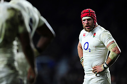 James Haskell of England looks on during a break in play - Mandatory byline: Patrick Khachfe/JMP - 07966 386802 - 27/02/2016 - RUGBY UNION - Twickenham Stadium - London, England - England v Ireland - RBS Six Nations.