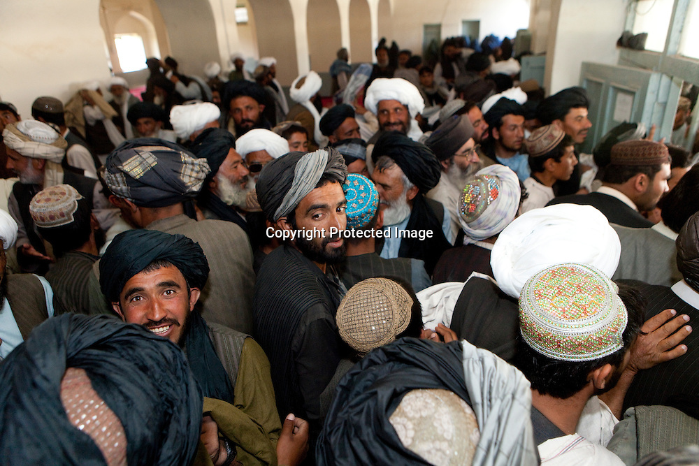 Pashtun visit the mosque on friday to pray in uruzgan, Afghanistan