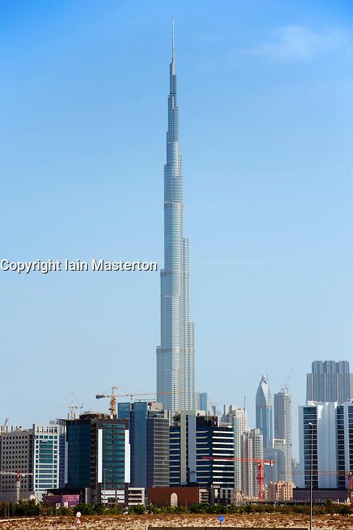 Burj Khalifa skyscraper in Dubai United Arab Emirates UAE