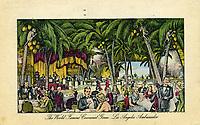 1940 Cocoanut Grove postcard, interior illustration