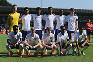 England team photo during the UEFA European Under 17 Championship 2018 match between England and Italy at the Banks's Stadium, Walsall, England on 7 May 2018. Picture by Mick Haynes.