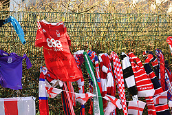 February 23, 2019 - Stoke On Trent, England, United Kingdom - Nottingham Forest shirt with RIP Banksey 1937-2019 left in memory of former Stoke goalkeeper Gordon Banks OBE during the Sky Bet Championship match between Stoke City and Aston Villa at the Britannia Stadium, Stoke-on-Trent on Saturday 23rd February 2019. (Credit Image: © Mi News/NurPhoto via ZUMA Press)